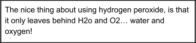 Hydrogen Peroxide Information Box