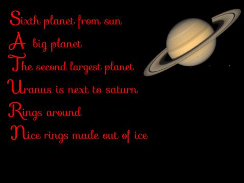 Inotia Saturn Acrostic Poem