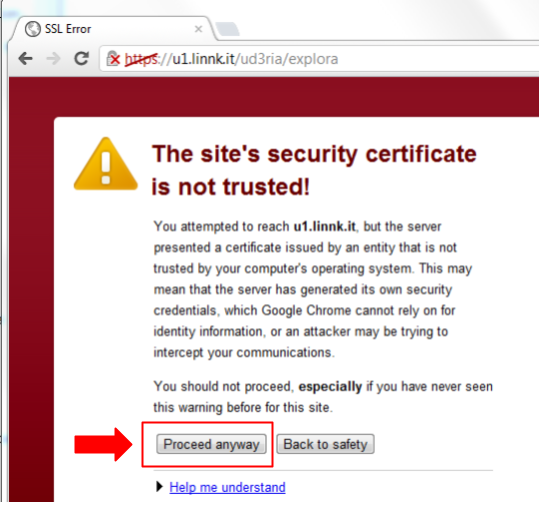 Add SSL Exception