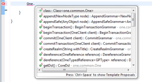 Context help for One class in eclipse