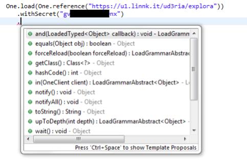 Specifying Callback Parameter
