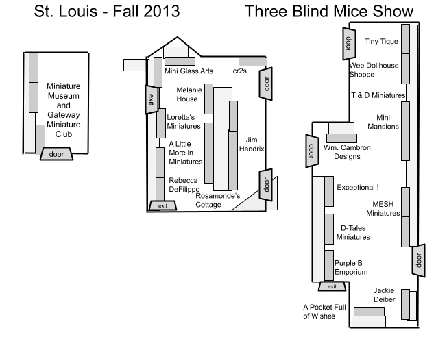 Floorplan for St. Louis Miniature show 2013