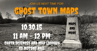 Ghost Town Maps flier