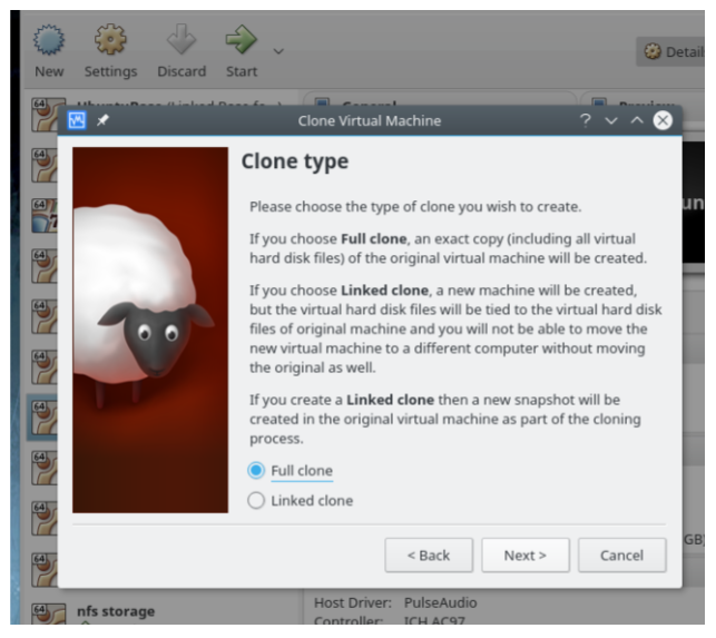 Virtualbox에서의 linked clone