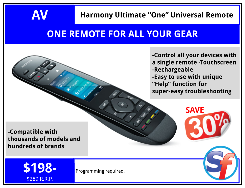 SF product - Harmony Touch Universal Remote - $188
