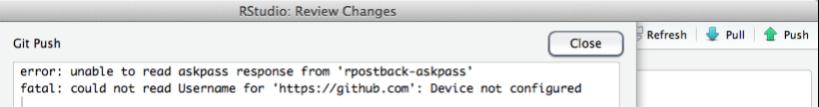 Error screen window: error: unable to read askpass response.