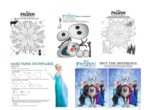 frozen activity page