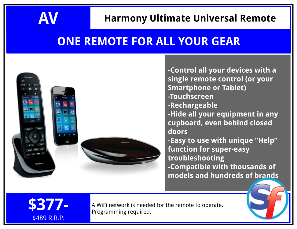 SF Product - Harmony Ultimate Universal Remote Control - $368