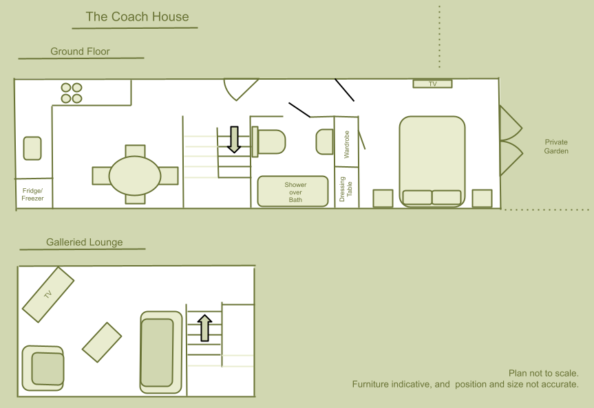 Floor plan of The Coach House