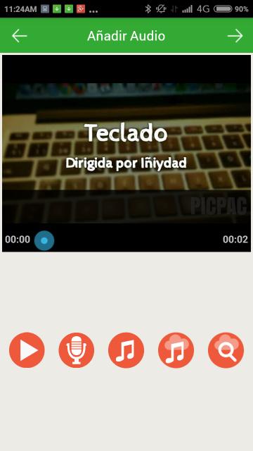 Añadir audio
