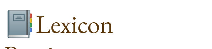 Lexicon Poeticum