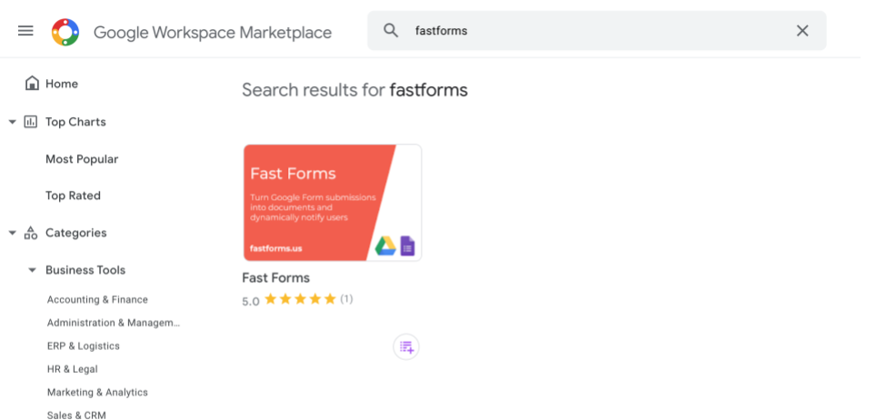 How to find the add-on within the Google Workspace Marketplace