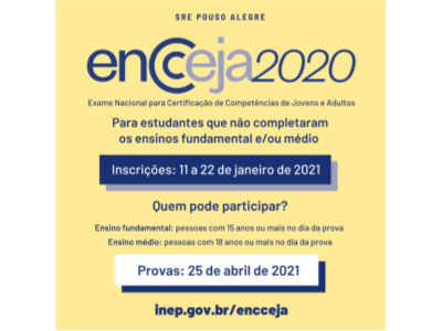 O Encceja 2020 dá oportunidade para estudantes que não completaram os ensinos fundamental e médio