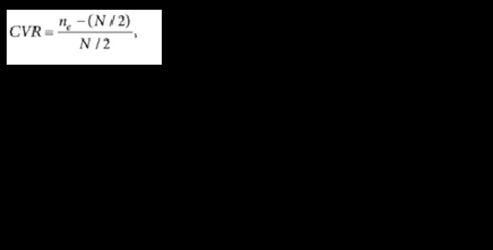 Resultado de imagen para formula de lawshe