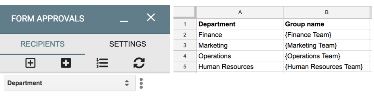 Image showing how to add a group recipient