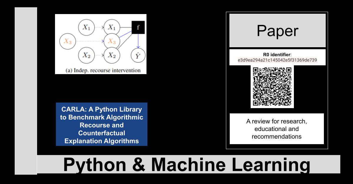 R0:e3d9ea294a21c145042e5f31369de739-CARLA: A Python Library to Benchmark Algorithmic Recourse and Counterfactual Explanation Algorithms