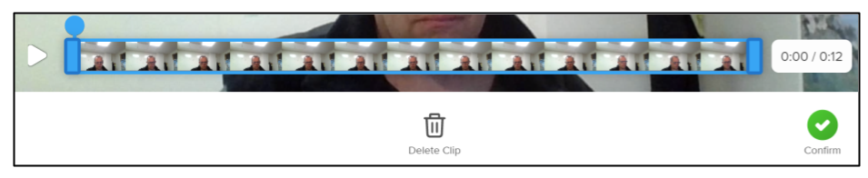 Scree capture of Flipgrid editing menu