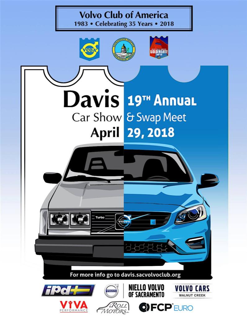 2018 Davis Meet Weekend Poster with Premier Sponsors