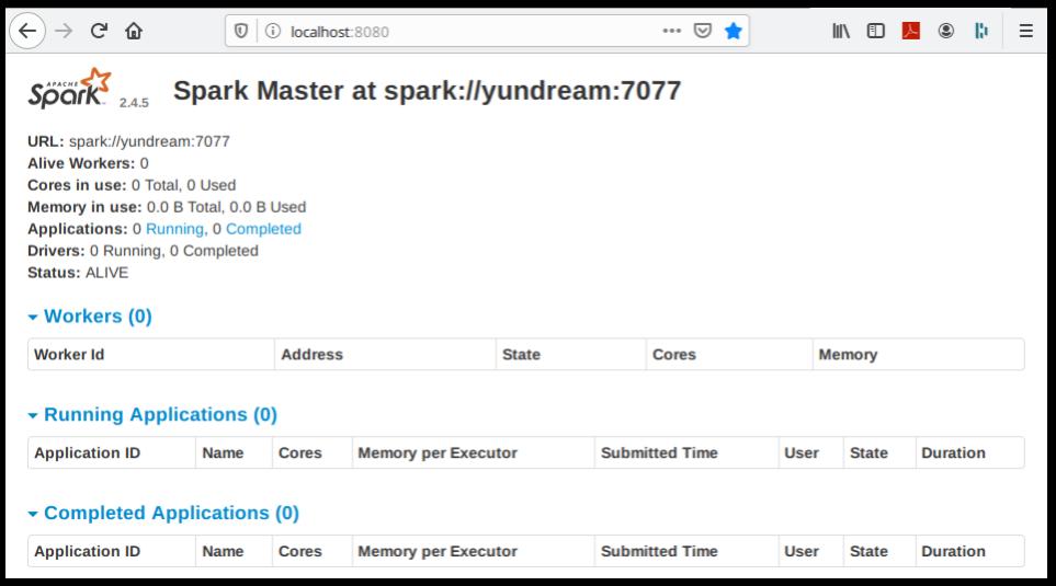 Spark standalone Server