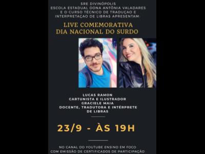 """Live """"Dia Nacional do Surdo"""""""