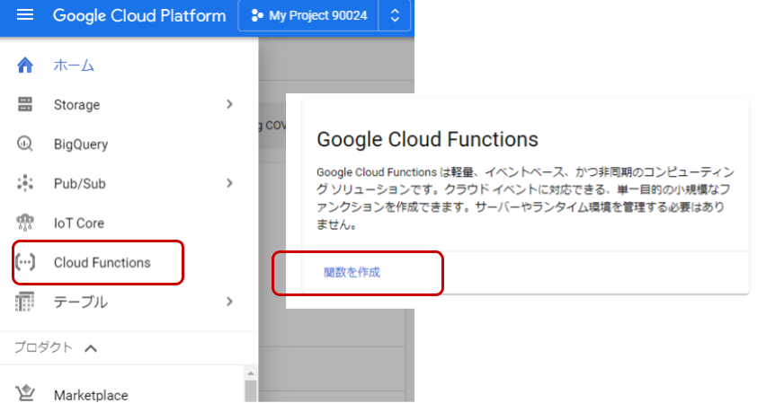 Button - Funk - Google Cloud Functions / functions 1