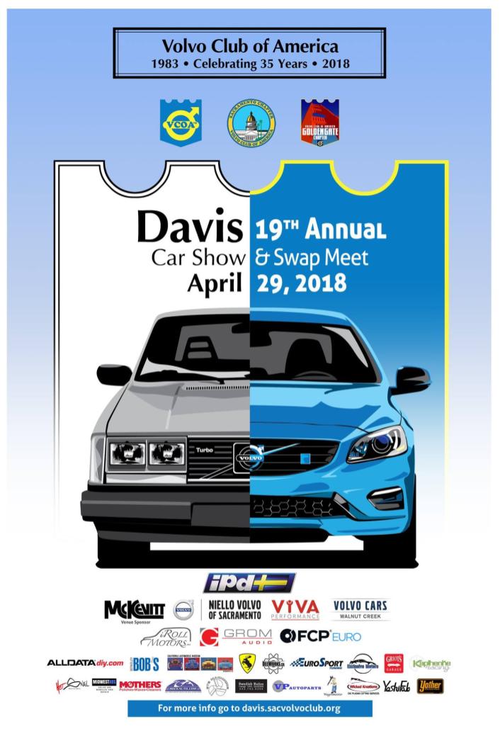 2018 Davis Meet Weekend Poster with Sponsors