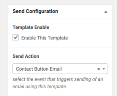 Email Template Configuration 1