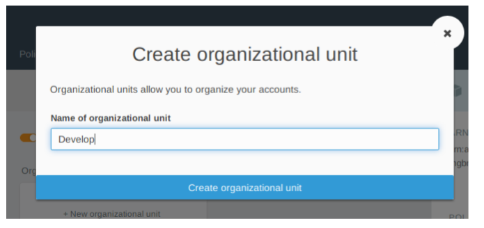 Creaste organization unit