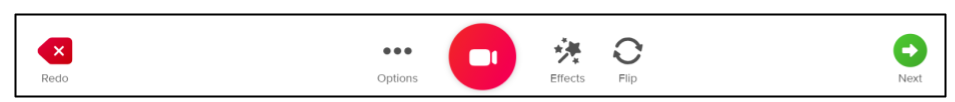 Screen capture of Flipgrid record buttons