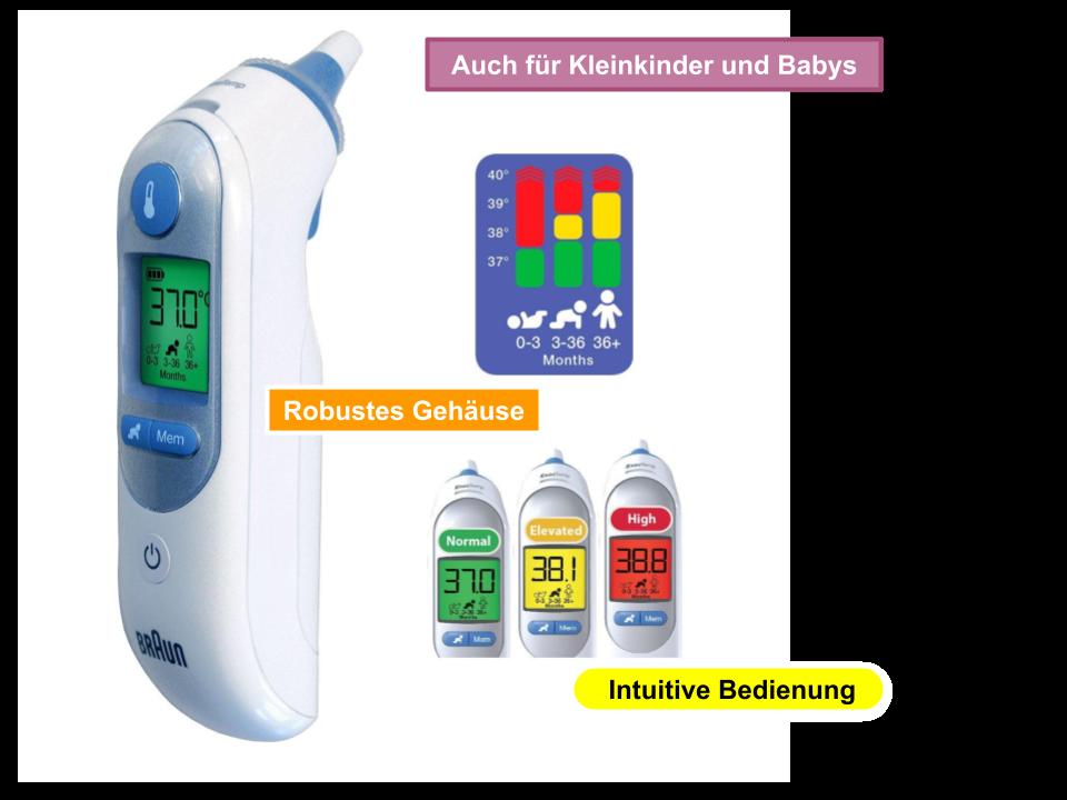 Braun Infrarot Fieberthermometer