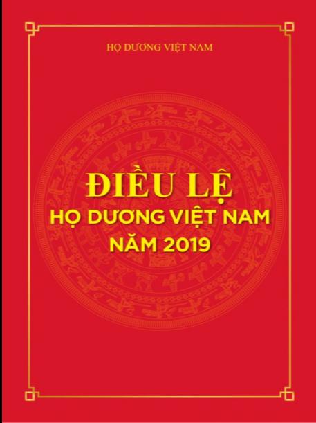 ĐIỀU LỆ HỌ DƯƠNG VIỆT NAM NĂM 2019
