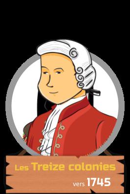 Les treize colonies vers 1745