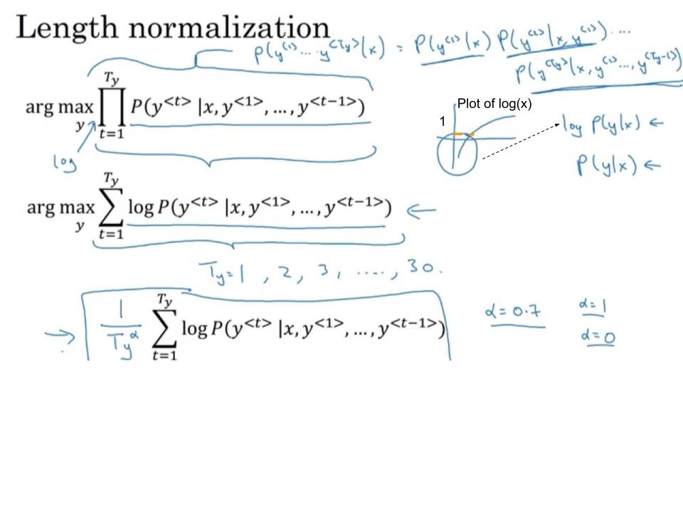 Length normalization