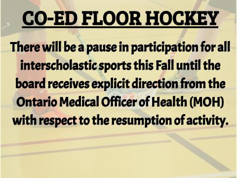 co-ed floor hockey