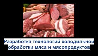 Разоаботка технологий холодильной обработки мяса и мясопродуктов