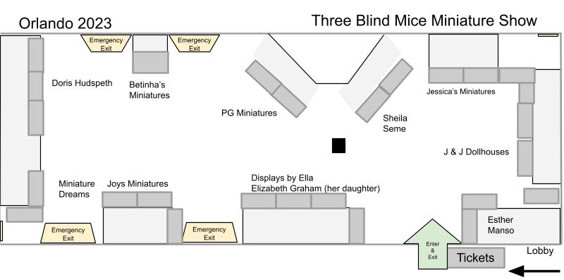 Floorplan for Orlando Miniature show