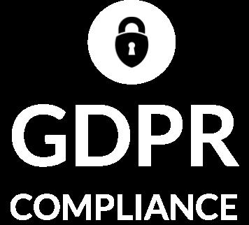GDPR compliance logo white transparent