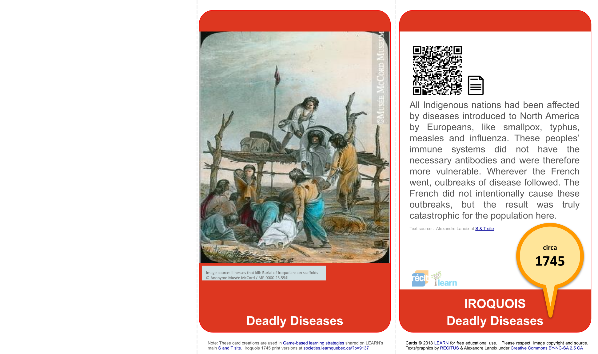 Iroquois 1745: Deadly diseases