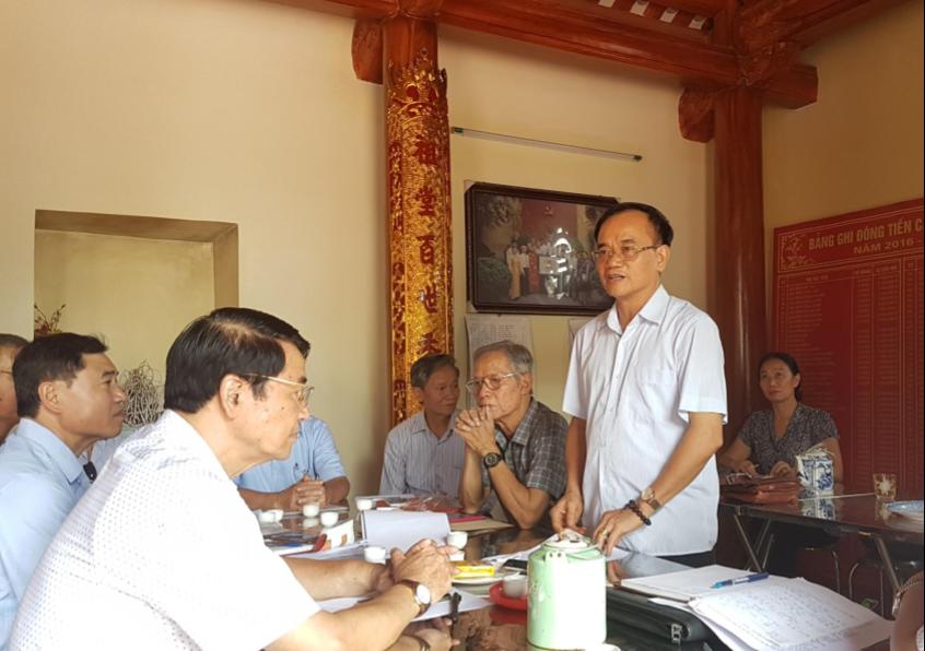 Ông Dương Văn Khá – Chủ tịch Hội đồng Họ Dương TP. Hà Nội phát biểu tại Hội nghị