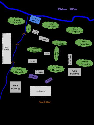 Rock-N-Water Camp Map