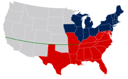 Missouri Compromise Line Map