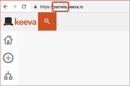 Nome de usuário no Keeva