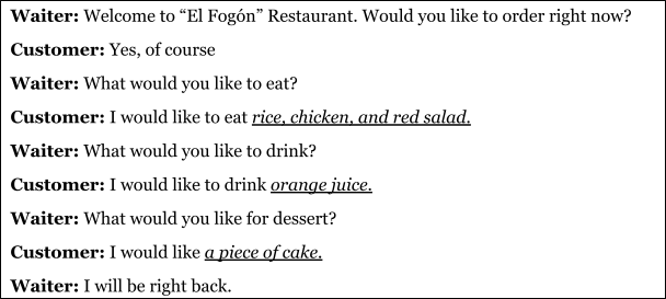 Bu Ordering Food Bottom Up Listening Lesson Plan Docx