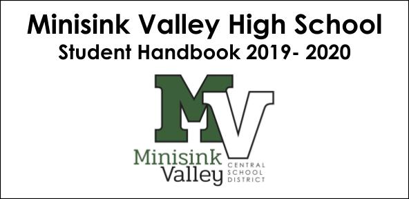 Minisink Valley High School Student Handbook 2019-2020