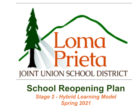 This is the introduction to the Loma Prieta Joint Union School District School Reopening Plan - Stage 2 Hybrid Learning Model of Spring 2021