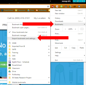 Importing Your Internet Explorer Bookmarks to Chrome