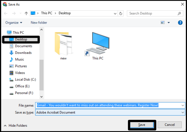 convert multiple emails to pdf